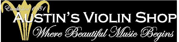 Austins Violin Shop Reverse Footer Logo