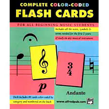 color coded flash cards